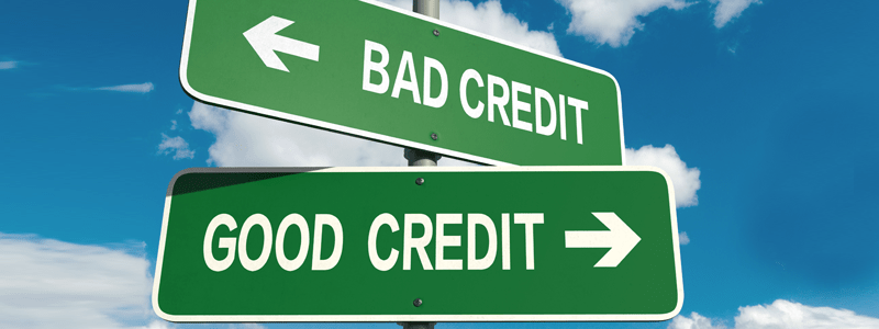 Good Credit and Bad Credit signpost
