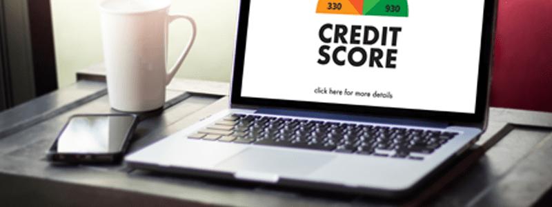 Credit Score on Laptop