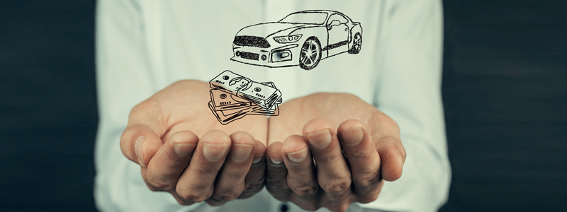 Car and cash drawing